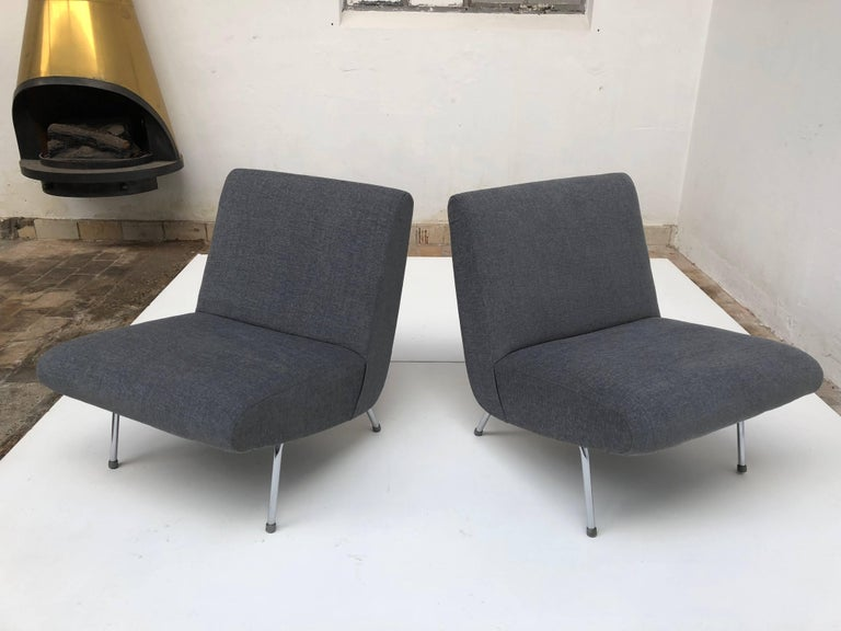 Pierre Guariche Model 'Breda' Lounge Chairs for Meurop, 1960s, New Upholstery! For Sale 1