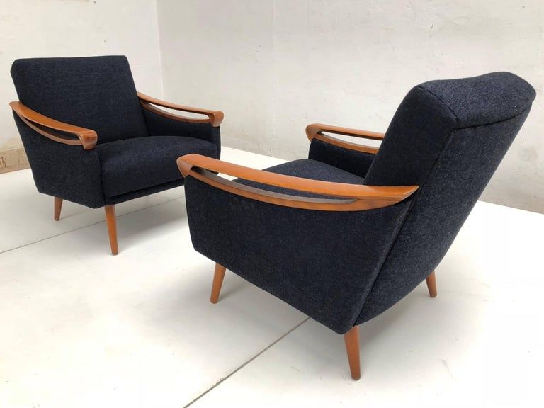 Strange Pair Of New Upholstered Mid Century Modern Armchairs By Lifa West Germany 1963 Ocoug Best Dining Table And Chair Ideas Images Ocougorg
