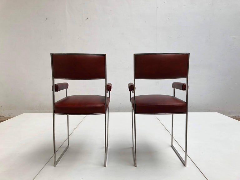 Late 20th Century Eight Exquisite Willy Rizzo Carver Dining Chairs, 1970, Published Casa Vogue For Sale