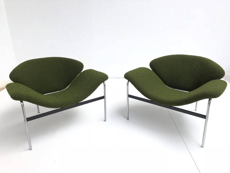 Rare Pair of 1960s Dutch 'Groovy' Lounge Chairs Attributed to Gelderland For Sale 1