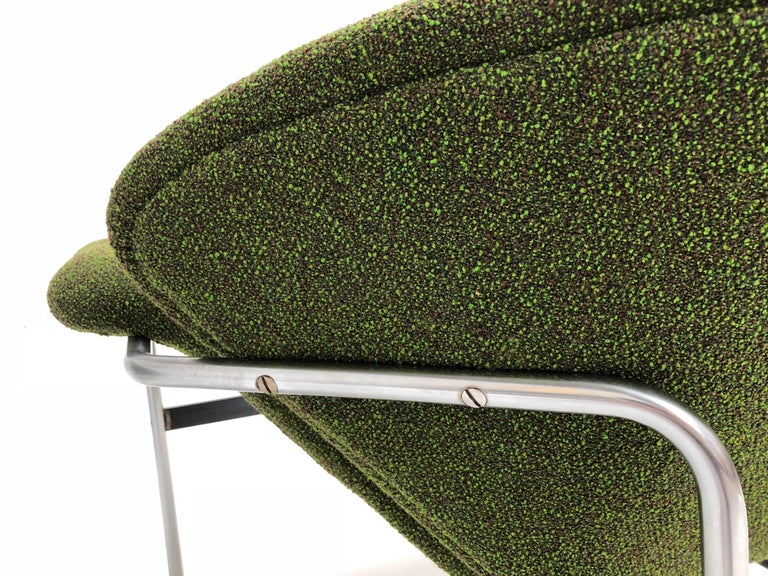 Plated Rare Pair of 1960s Dutch 'Groovy' Lounge Chairs Attributed to Gelderland For Sale