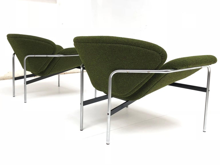 Rare Pair of 1960s Dutch 'Groovy' Lounge Chairs Attributed to Gelderland For Sale 2