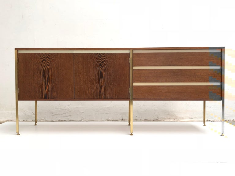 'Copal' Credenza in Panga Panga by Kho Liang le & Wim Crouwel for Fristho, 1960 For Sale 4