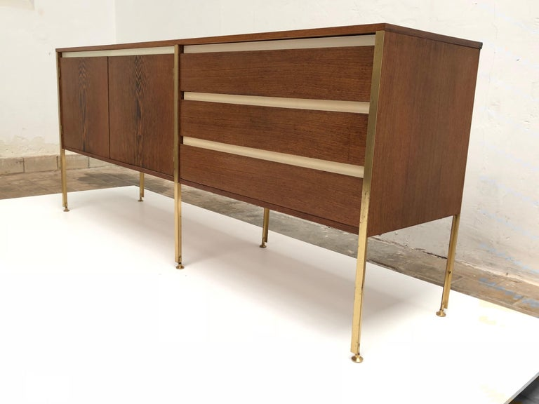 'Copal' Credenza in Panga Panga by Kho Liang le & Wim Crouwel for Fristho, 1960 In Good Condition For Sale In bergen op zoom, NL