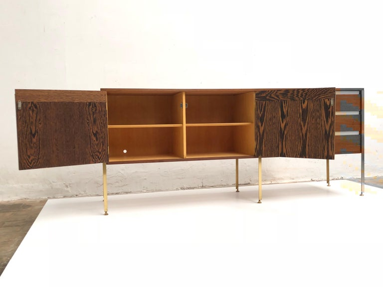 Veneer 'Copal' Credenza in Panga Panga by Kho Liang le & Wim Crouwel for Fristho, 1960 For Sale