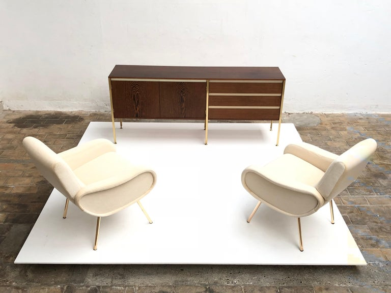 'Copal' Credenza in Panga Panga by Kho Liang le & Wim Crouwel for Fristho, 1960 For Sale 6