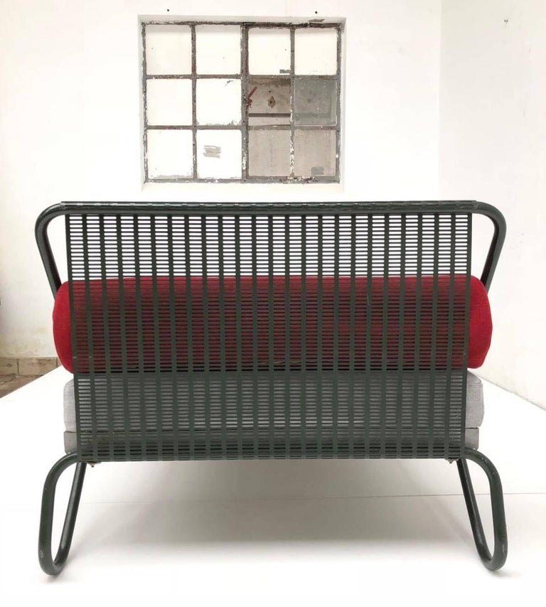 Fabric 1952 'Miami' Daybed by Jacques Hitier for the Famous 'Antony' Building, Paris For Sale