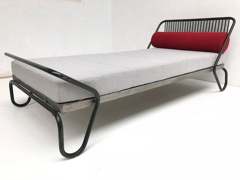 Enameled 1952 'Miami' Daybed by Jacques Hitier for the Famous 'Antony' Building, Paris For Sale