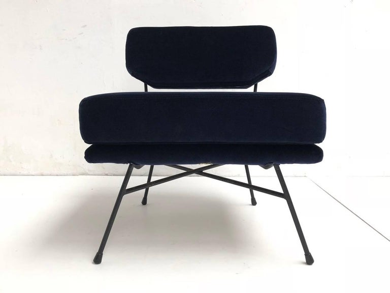 Cast Pair of 'Elettra' Lounge Chairs by BBPR , Arflex,Italy 1953, Compasso D'Oro 1954 For Sale