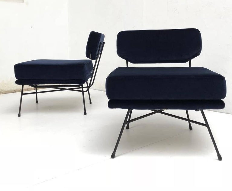 Mid-Century Modern Pair of 'Elettra' Lounge Chairs by BBPR , Arflex,Italy 1953, Compasso D'Oro 1954 For Sale