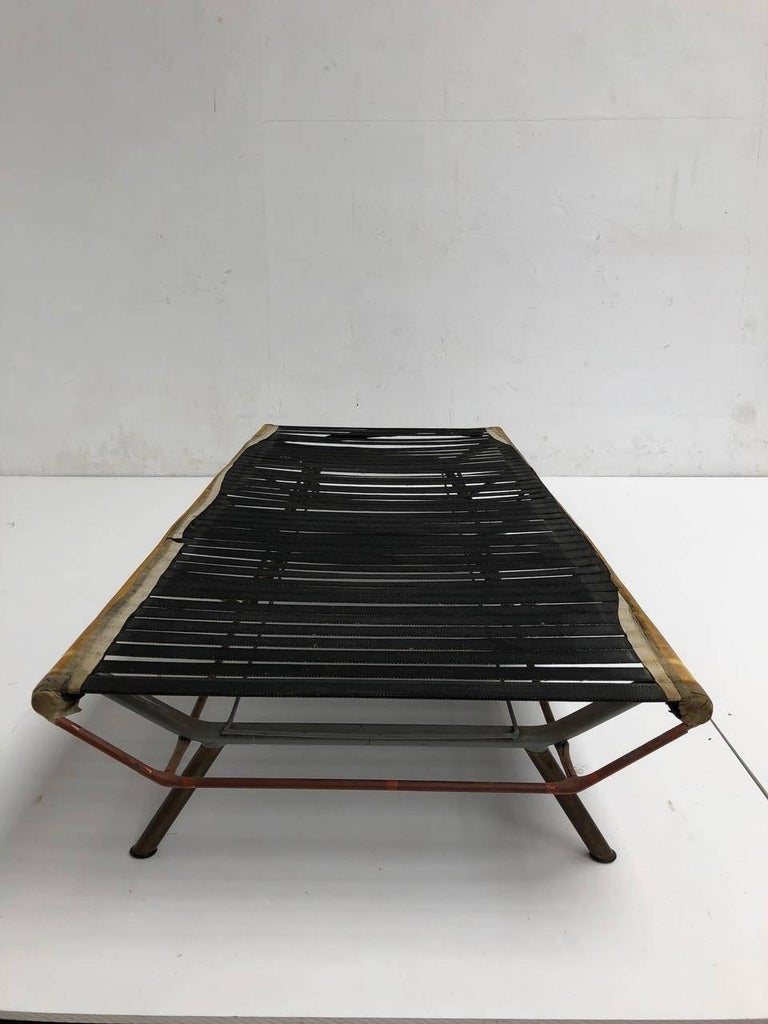 Superb 'Triennale' Brass Leg Daybed by Zanuso for Arflex, 1951, Original Labels For Sale 9