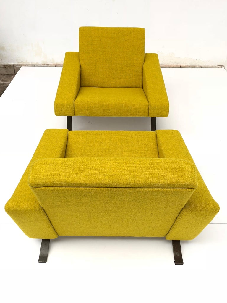 Rare Triangel Sofa and two Lounge Chairs by Gelderland, circa 1958 De Ploeg Wool For Sale 3
