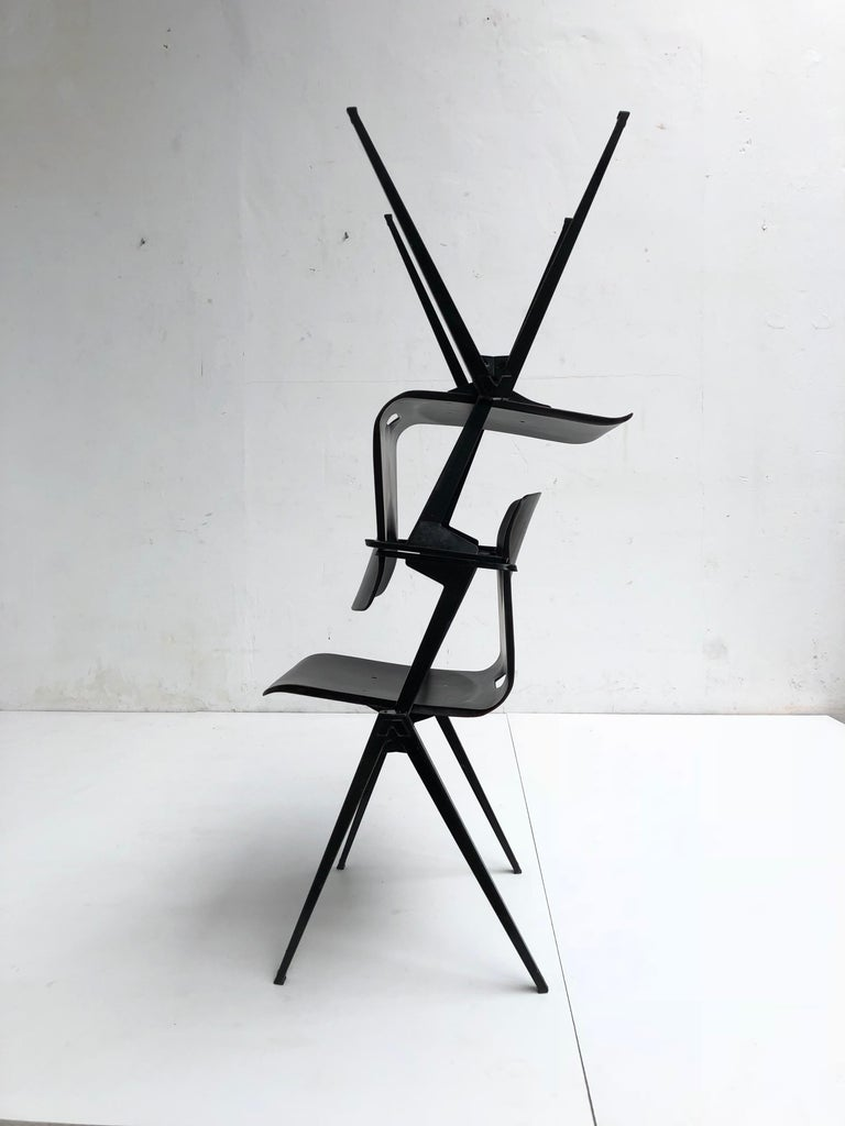 Mid-Century Modern S22 Pyramid Stackable Armchair by Galvanitas The Netherlands, 1960s For Sale