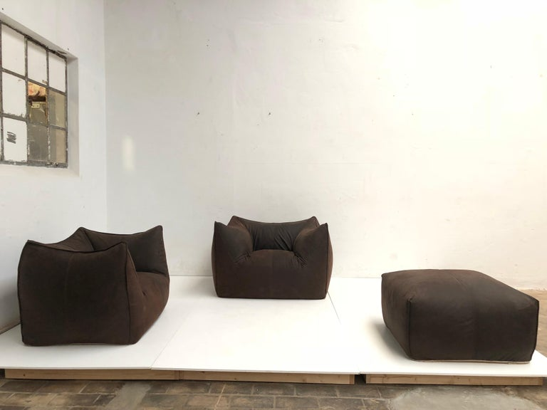 Leather 'Bambole' Living Room Set by Mario Bellini, 1972, Original Period Labels For Sale 5
