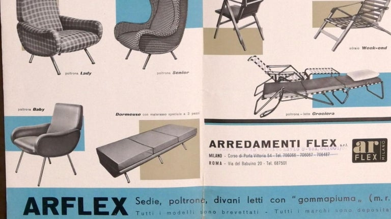 Rare pair of elegant 1951 'Baby' lounge chairs by Marco Zanuso for 'Arflex', Italy. Early sought after examples with the artisan handcrafted wood seating frames.