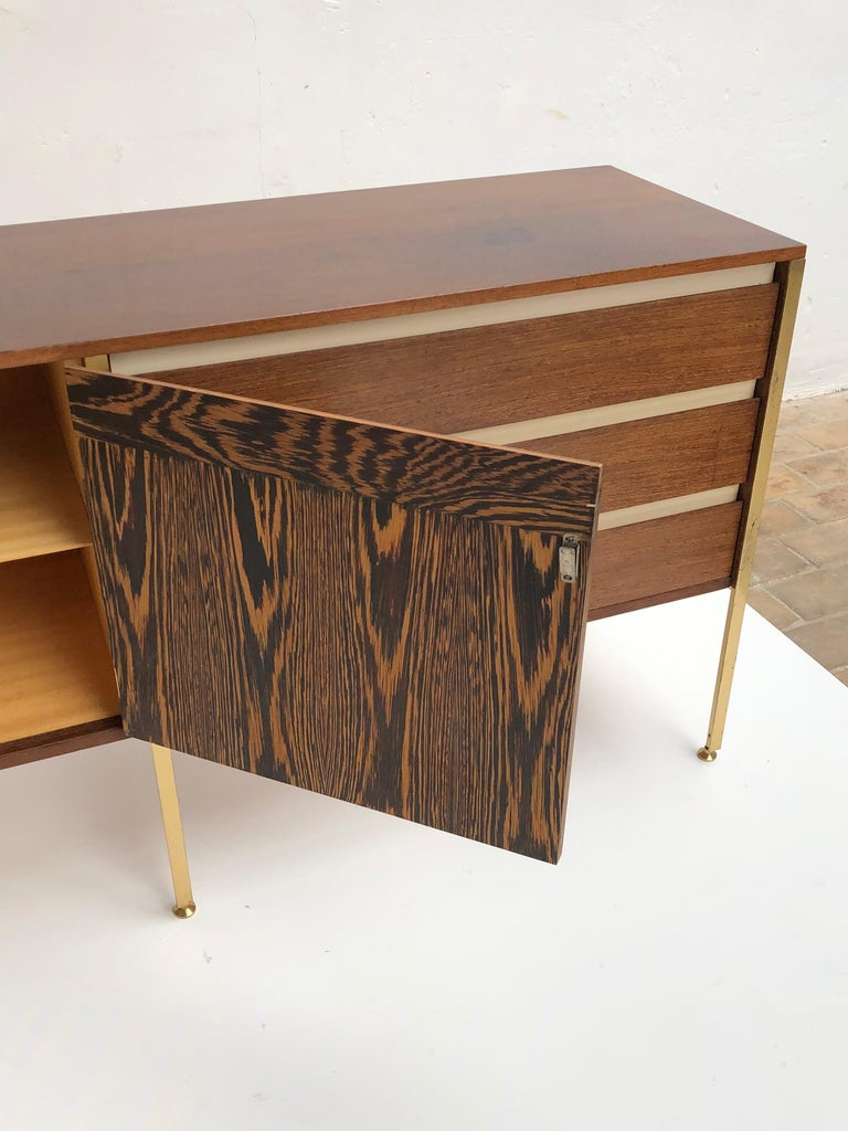 'Copal' Credenza in Panga Panga by Kho Liang le & Wim Crouwel for Fristho, 1960 For Sale 3
