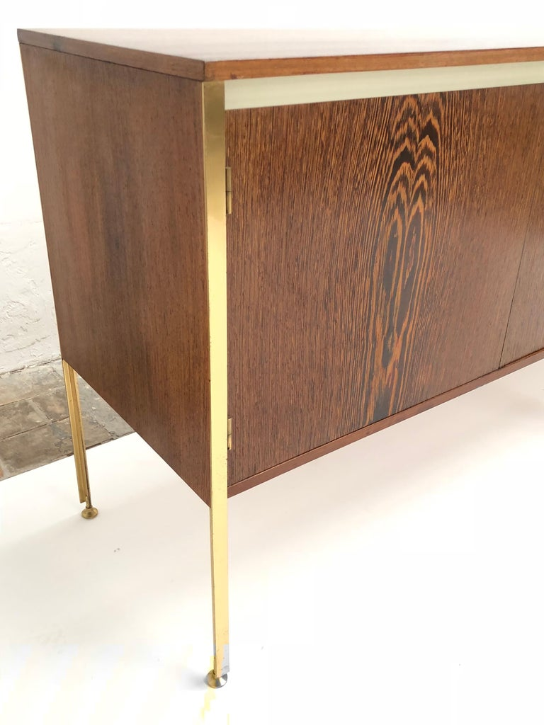Mid-Century Modern 'Copal' Credenza in Panga Panga by Kho Liang le & Wim Crouwel for Fristho, 1960 For Sale
