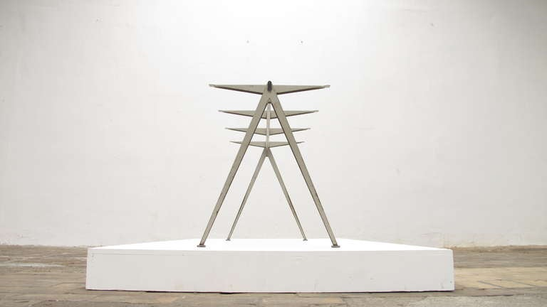 Wim Rietveld 1st Edition Oak Top 'Pyramid' Compass Table Ahrend the Cirkel 1959 For Sale 11