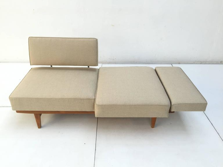 Metalwork 1950s Magic Day Bed Sofa Model Stella (no. 5920) By Wilhelm Knoll Germany For Sale