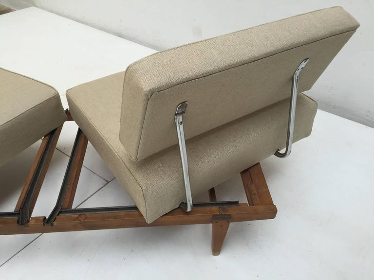 1950s Magic Day Bed Sofa Model Stella (no. 5920) By Wilhelm Knoll Germany For Sale 2