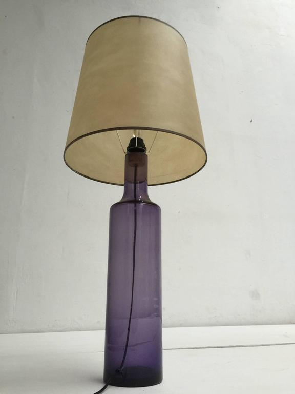 Large 1960s Italian Purple Murano Glass Table or Floor Lamp In Good Condition For Sale In bergen op zoom, NL