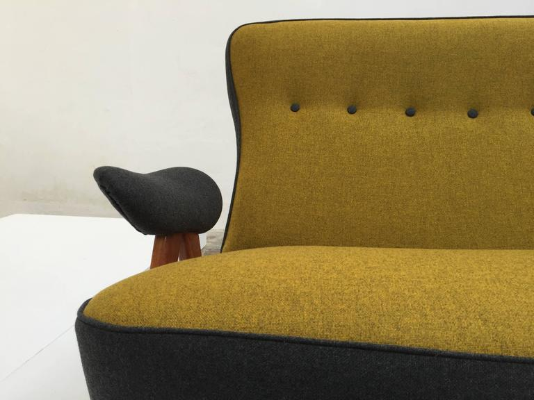 Mid-20th Century Stunning Theo Ruth Model 105 'Hair Pin' Sofa for Artifort with Kvadrat Wool For Sale