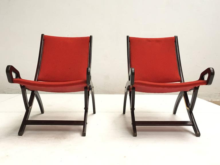 Mid-Century Modern Gio Ponti ''Ninfea'' Chairs, 1958, Published with Certificate from Ponti Archive For Sale