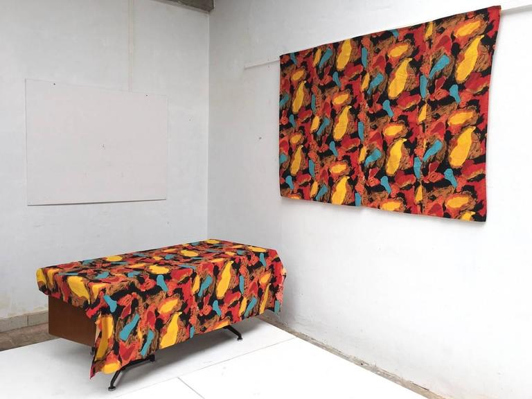 Pair of Karel Appel Curtains, 1963, Documented at Stedelijk Musem For Sale 1