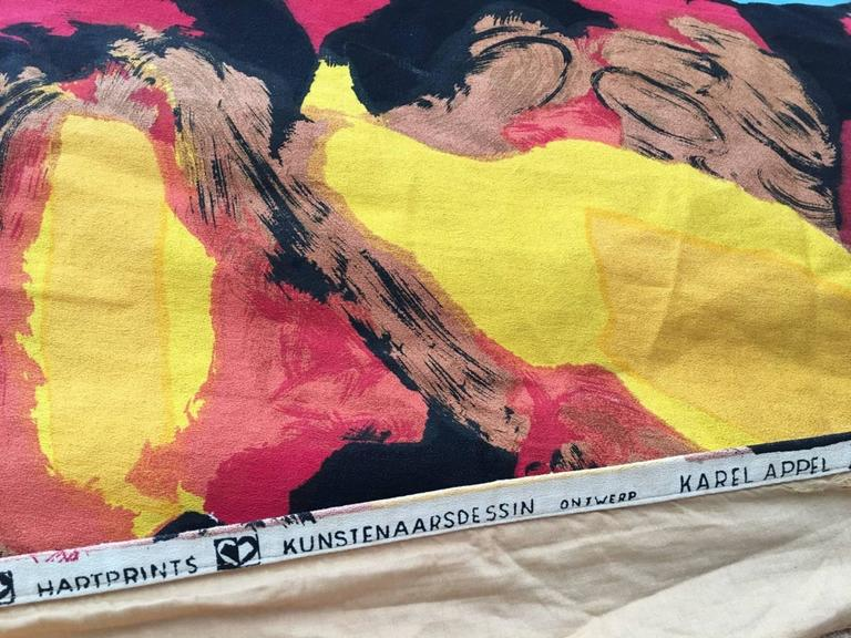 Mid-Century Modern Pair of Karel Appel Curtains, 1963, Documented at Stedelijk Musem For Sale