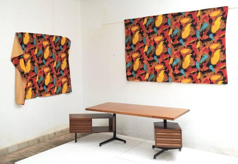 Dutch Pair of Karel Appel Curtains, 1963, Documented at Stedelijk Musem For Sale