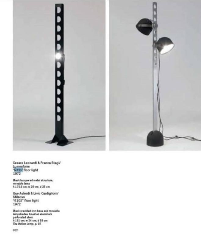 Rare Sculptural 'Ritto' Floor Lamp by Leonardi & Stagi for Lumenform, 1972 For Sale 2
