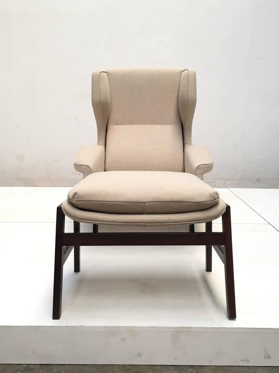 Ultra Rare Rosewood Gianfranco Frattini 877 Lounge Chair & Ottoman,Cassina,1959 For Sale 2