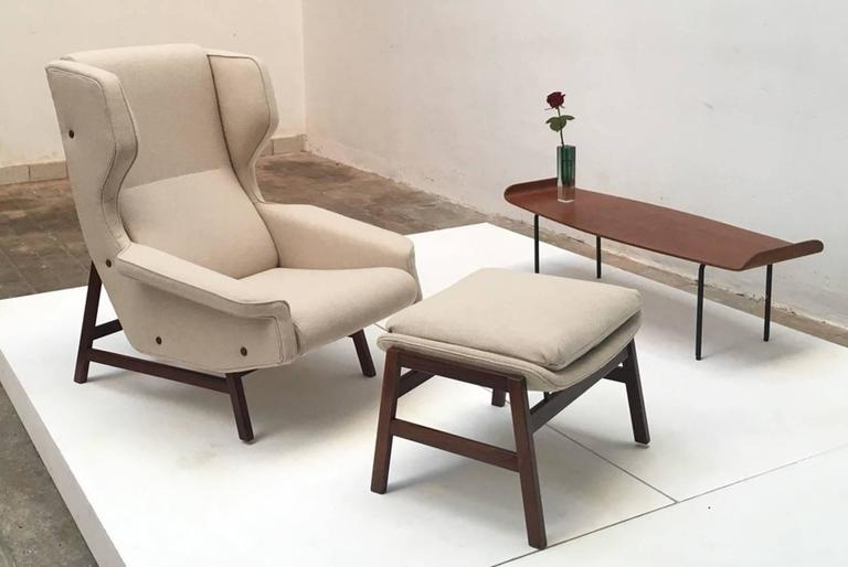 Ultra Rare Rosewood Gianfranco Frattini 877 Lounge Chair & Ottoman,Cassina,1959 4