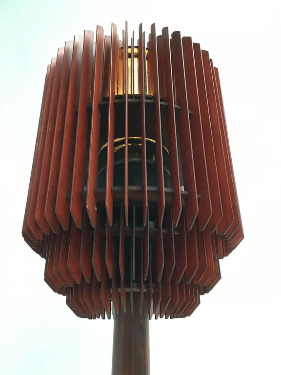 Brass Impressive 1930s Art Deco Louvres Floor Lamp For Sale