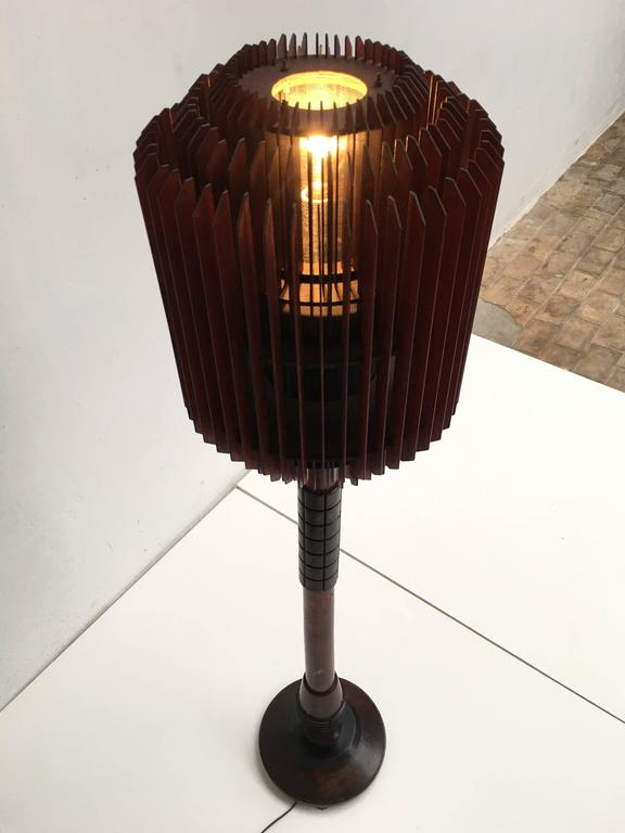 Impressive 1930s Art Deco Louvres Floor Lamp For Sale 1