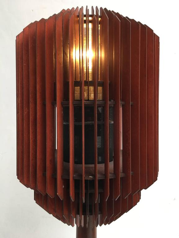 Impressive 1930s Art Deco Louvres Floor Lamp For Sale 2