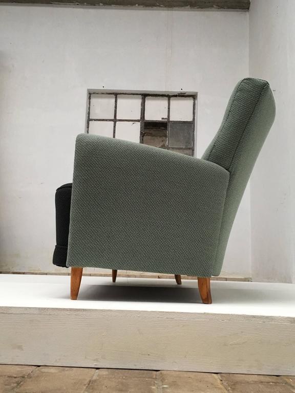 Metal Rare Theo Ruth Three-Seat Sofa with New De Ploeg Upholstery, Artifort, 1955 For Sale