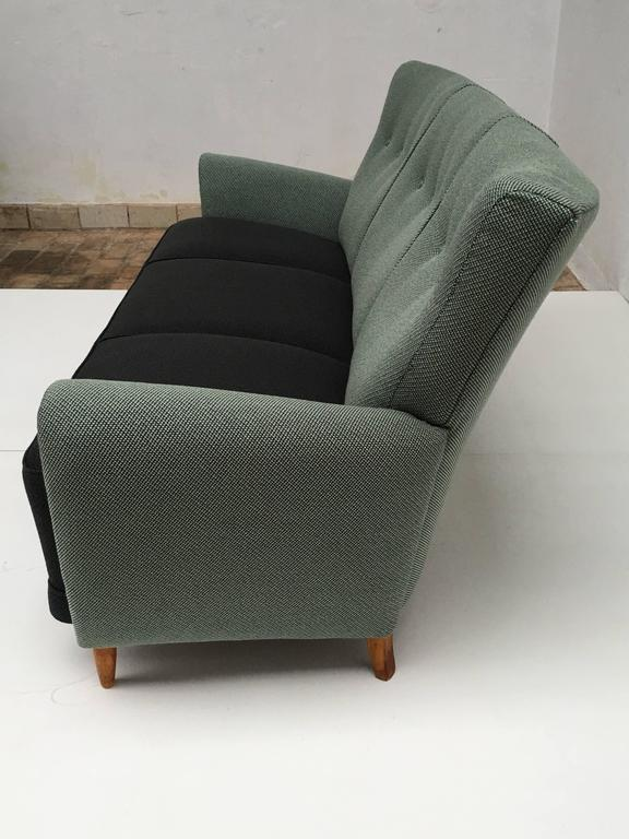 Rare Theo Ruth Three-Seat Sofa with New De Ploeg Upholstery, Artifort, 1955 For Sale 3