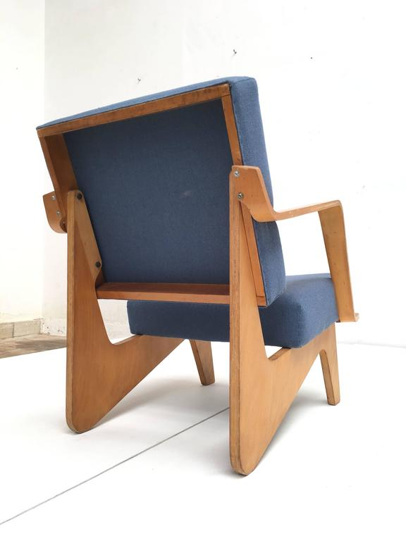 Molded Birch Plywood FB03 Combex Plywood Armchair by Cees Braakman for UMS Pastoe, 1952 For Sale