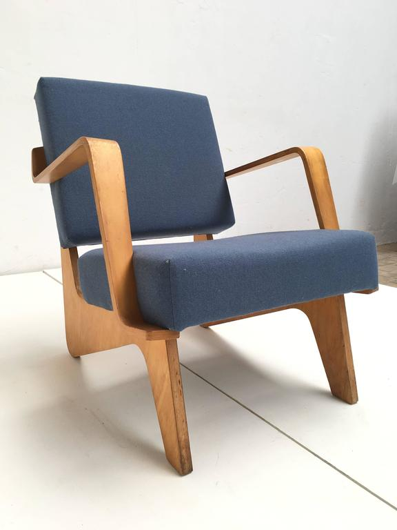 Dutch Birch Plywood FB03 Combex Plywood Armchair by Cees Braakman for UMS Pastoe, 1952 For Sale