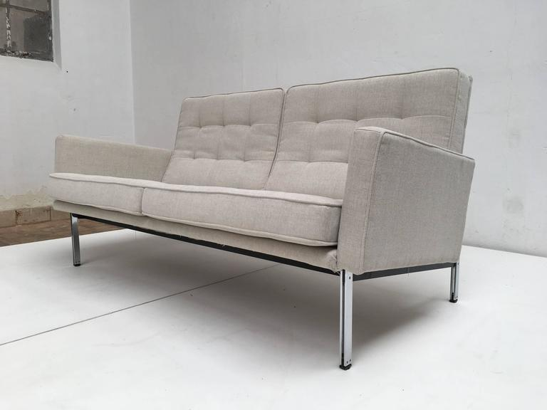 Early Florence Knoll Parallel Bar Sofa by Knoll International, circa 1955 7