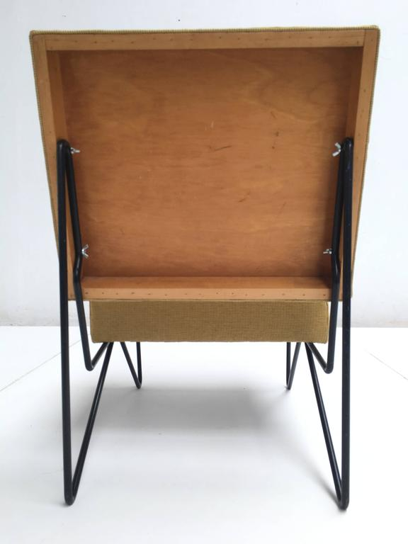 Enameled Modernist Cees Braakman FM03 Combex Lounge Chair for UMS Pastoe 1953 Restored For Sale