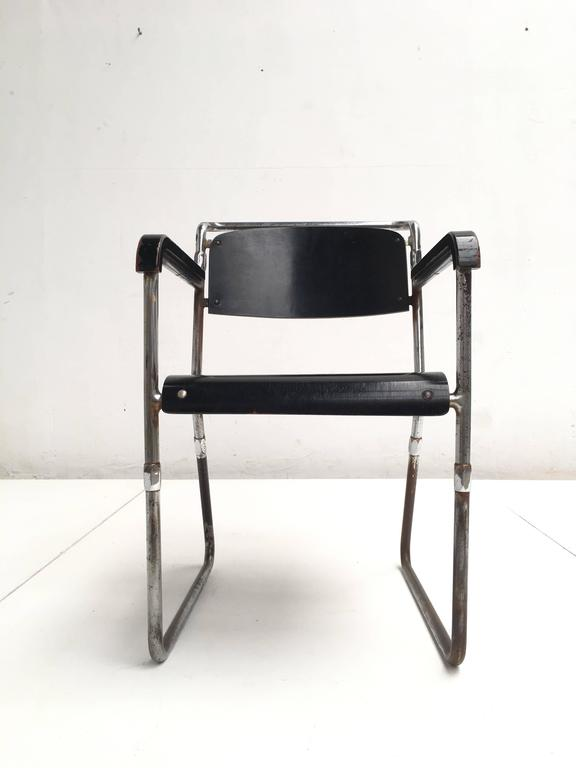 Rare Hopmi Tubular Chair by Architect H.F. Mertens for UMS Pastoe, 1932 6