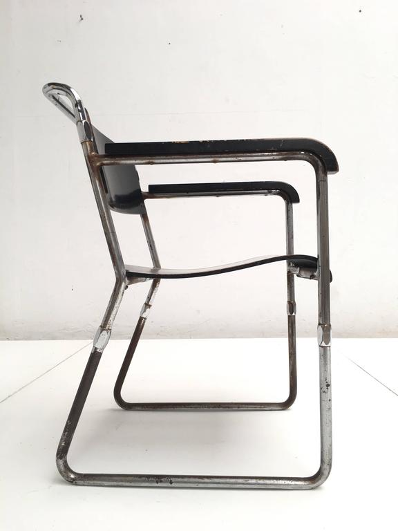 Rare Hopmi Tubular Chair by Architect H.F. Mertens for UMS Pastoe, 1932 4