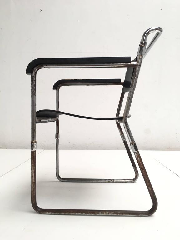 Rare Hopmi Tubular Chair by Architect H.F. Mertens for UMS Pastoe, 1932 2