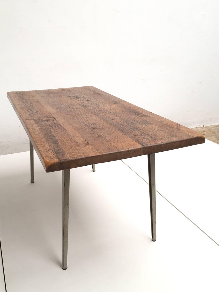 Friso Kramer 'Reform' Table or Desk with Reclaimed Rustic Oak Top 9
