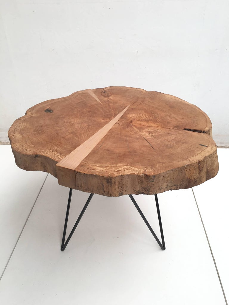 This vintage solid beech slab has been reclaimed from a rustic coffee table from the 1960s  The wood slab has been sandblasted and heat treated first in a 120 degrees celsius oven overnight to make sure any living organisms inside were killed  A