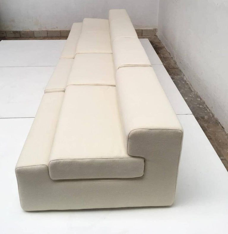Mid-20th Century Unique modular Sofa by Mangiarotti from the 'Casa Vitale', 1969 with certificate For Sale