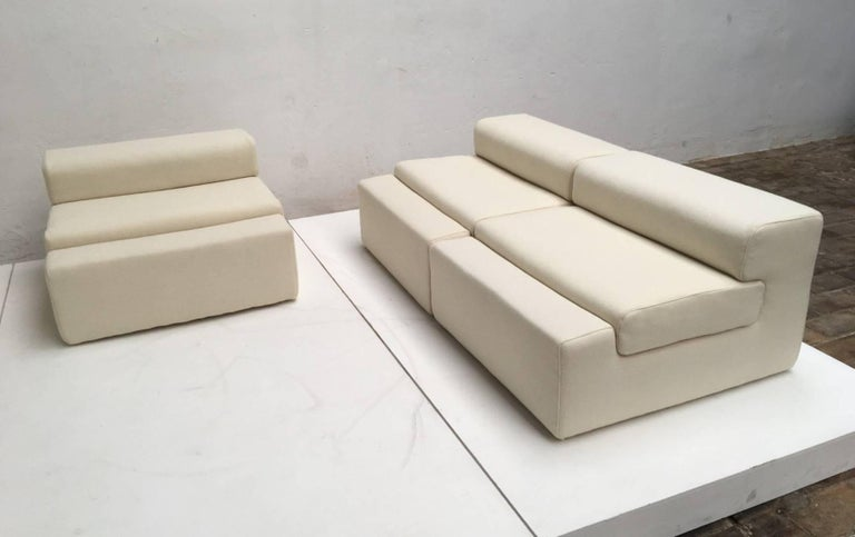 Unique modular Sofa by Mangiarotti for the 'Casa Vitale', 1969 with certificate 5