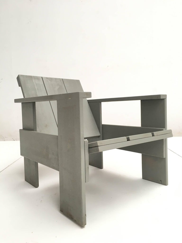 Gerrit Rietveld Inspired Crate Chair, Study Piece by a Student 2